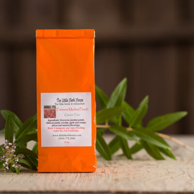 Barn & Gardens of The Little Herb House - Farmers Market Peach Green Tea
