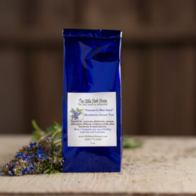 Barn & Gardens of The Little Herb House - Forever in Blue Jeans Blueberry Green Tea