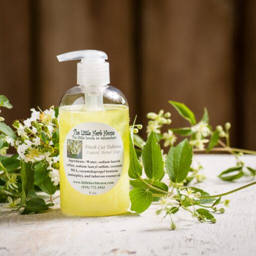 Fresh Cut Tuberose Liquid Hand Soap | The Little Herb House