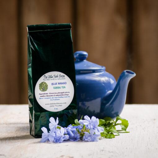 Blue Mango Green Tea   The Little Herb House