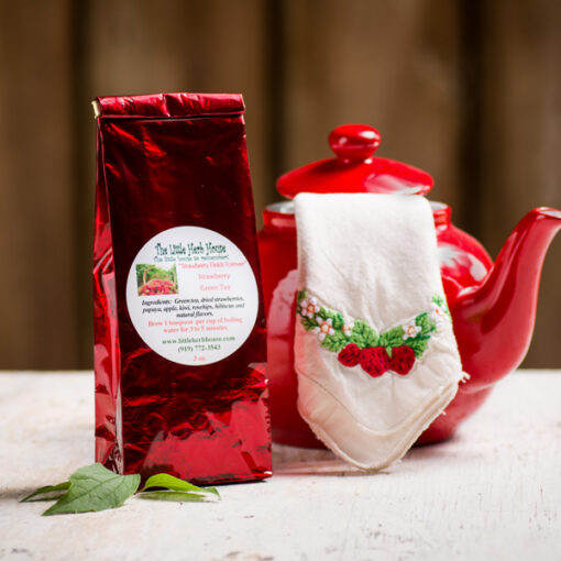 Strawberry Fields Forever Green Tea   The Little Herb House