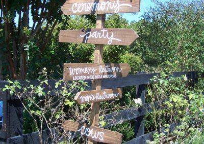 Rustic wedding garden sign