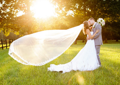 Pasture farm wedding