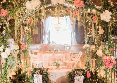 Barn and garden wedding