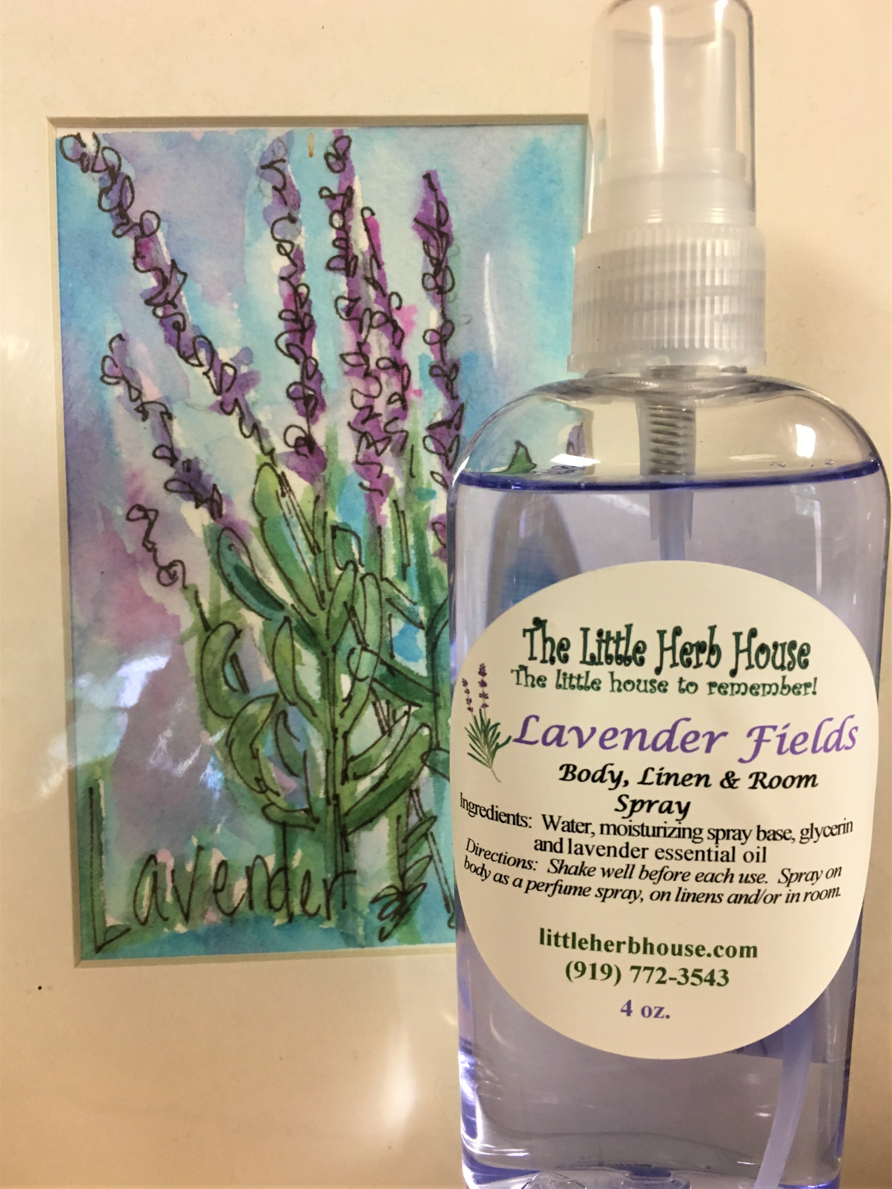 Lavender Fields Body Linen and Room Spray | The Little Herb